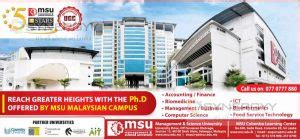 Msu Distance Learning Mba by Ph D Programme By Msu Malaysia Education Synergyy