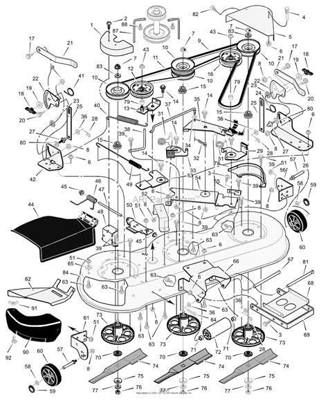 murray mower parts diagram murray 465603x92a lawn tractor 2002 parts diagram for