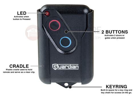 Guardian Garage Door Opener Remote Guardian Gdor2b Residential Two Button Remote Garage Door Opener
