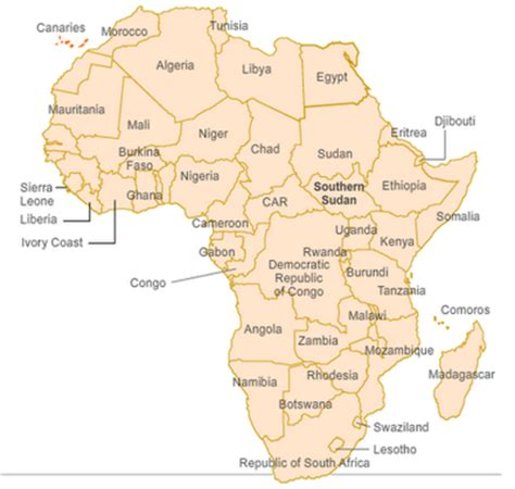 w x maps africa outline map 7 africa south of the