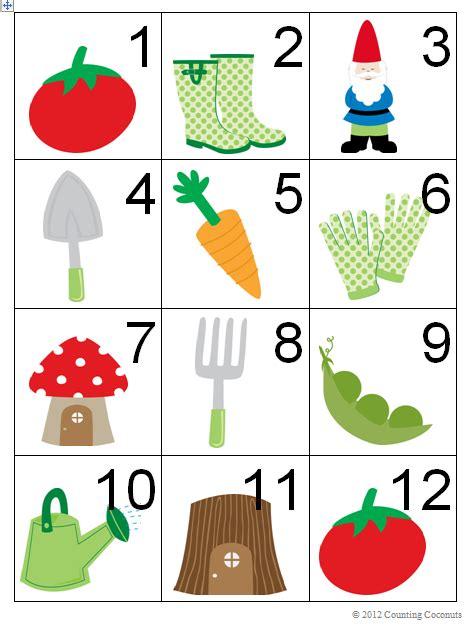 printable calendar cards counting coconuts spring gardening calendar cards