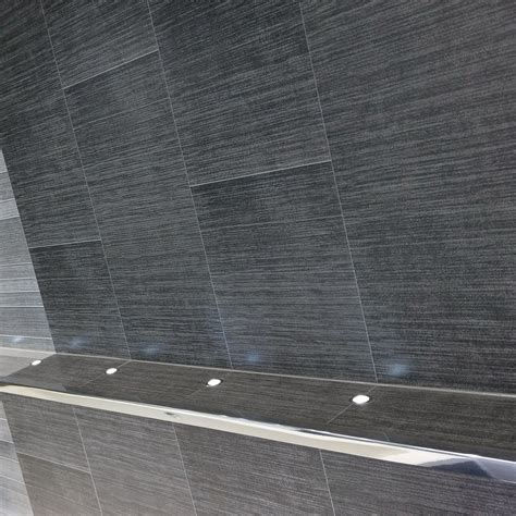 big tiles modern anthracite large tile wall panels by hobson interiors