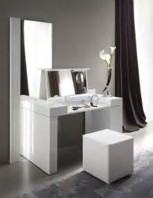 Modern Gloss Black Makeup Vanity Table With Bench Rossetto Dressing Table
