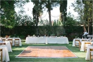 Backyard Wedding Floor thinking about a backyard wedding here are some