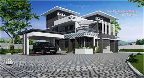 contemporary home design in 2491 sq kerala home