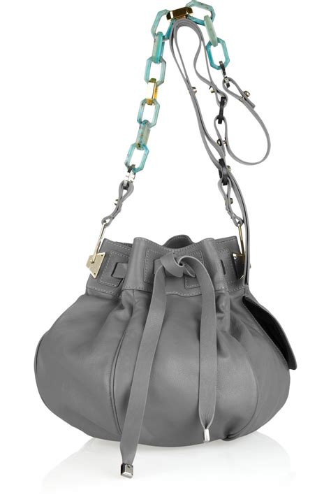 New Pauric Sweeney 08 Bags by Pauric Sweeney Contrast Leather Bag In Gray