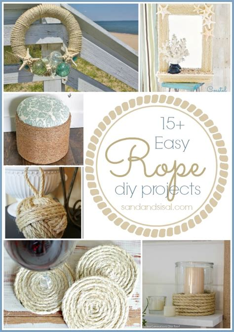 15 easy crafts sand and sisal