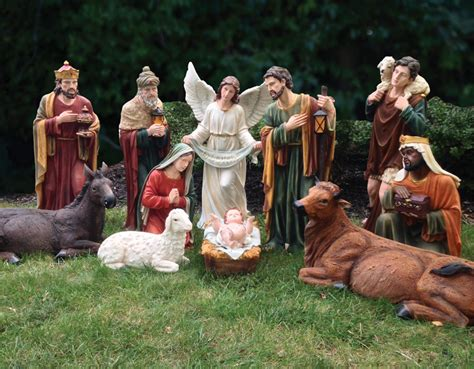 christmas outdoor yard decorations nativity sets