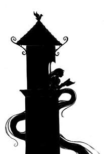 rapunzel tangled silhouettes pinterest