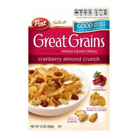 Post Cranberry Almond Crunchpost Cereal post great grain cranberry almond crunch 13oz