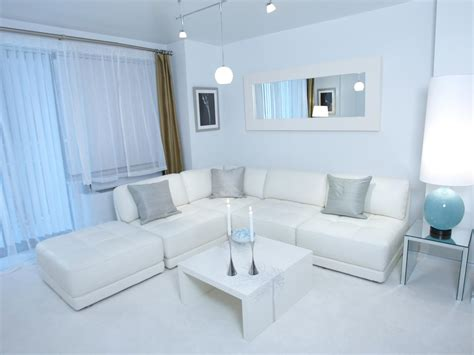 White Modern Living Room by Photo Page Hgtv