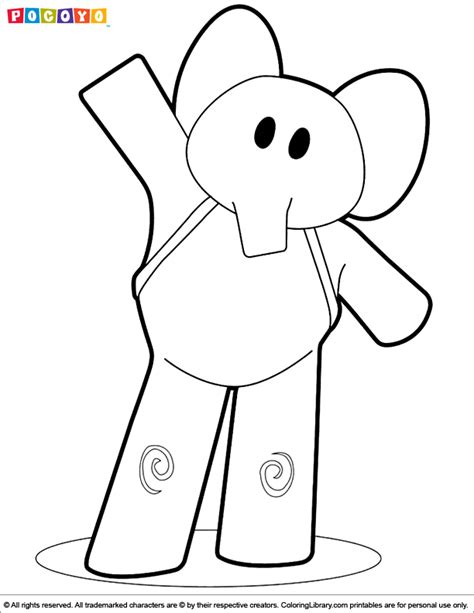 free pocoyo valentine coloring pages