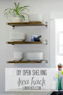 open shelving diy open shelving for our kitchen lemon thistle