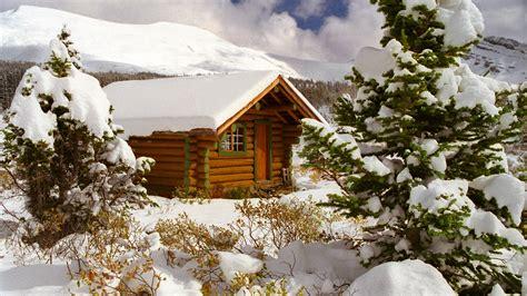 winter log cabin desktop wallpaper 3d log cabin wallpaper wallpapersafari