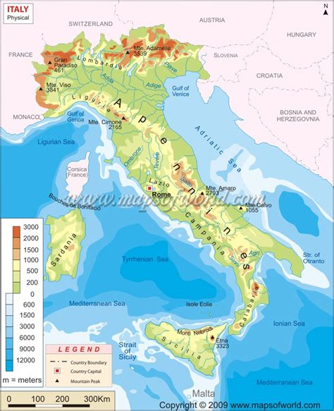 geographical map of italy science 6 186 italy