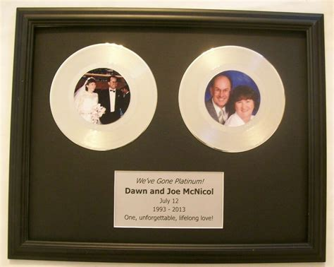Custom Platinum or Gold Wedding 20th Anniversary Gift 45