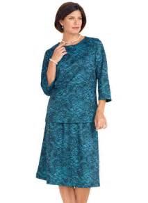 Patio Dresses Petite 2 Piece Lace Print Dress Amerimark Online Catalog