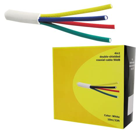 Cstas Paket 4in1 17 chess k0011 quattro koaxialkabel 50m 90db wei 223 4 kabel in einem 4in1 koaxkabel satellit dvb t