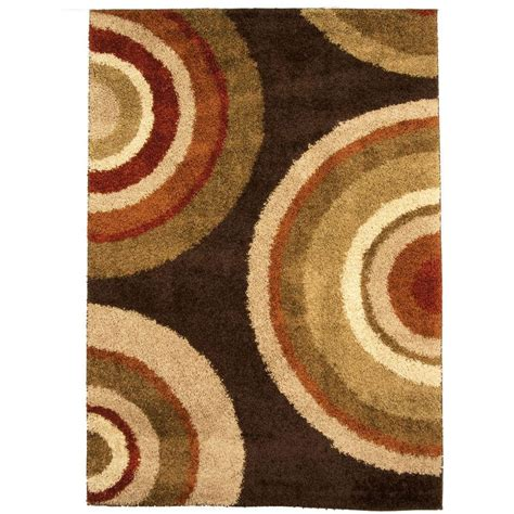 area rug 10 x 10 orian rugs eclipse brown 7 ft 10 in x 10 ft 10 in area rug 211177 the home depot