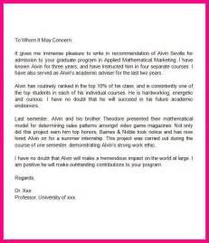 recommendation letter to graduate sample amp custom