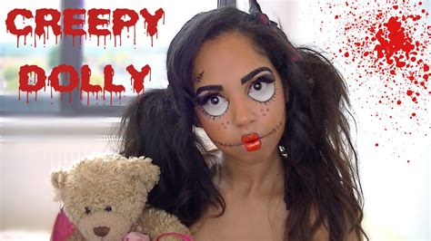 tutorial makeup halloween doll easy creepy halloween doll makeup tutorial racquel