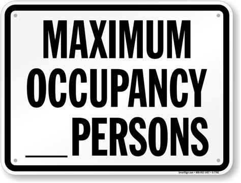 Pool And Spa Capacity Signs Do Not Exceed Pool Occupancy Limit Occupancy Sign Template