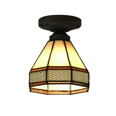 5 inch ceiling light 5 inch mini stained glass style semi flush mount