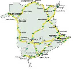 road map of new brunswick canada new brunswick highway cameras