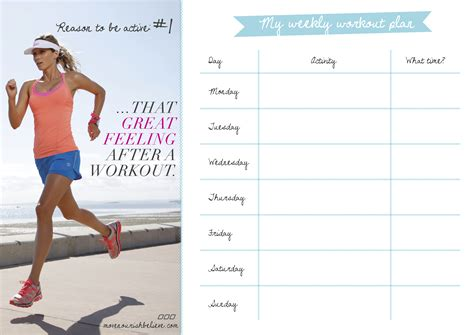 workout layout your printable workout plan for march
