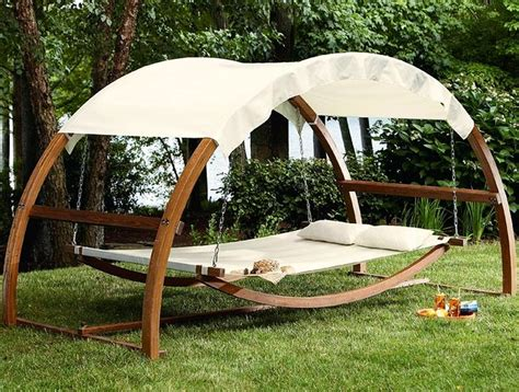 outside swings with canopy swing bed with canopy turns ordinary garden into sumptuous