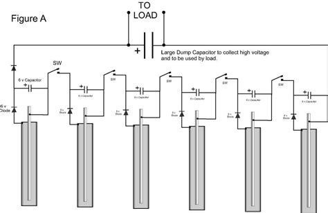 why capacitor is not connected in series practical scheme earth battery