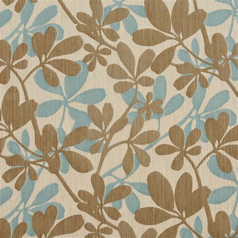 shop upholstery fabric teal taupe and beige contemporary leaves woven upholstery