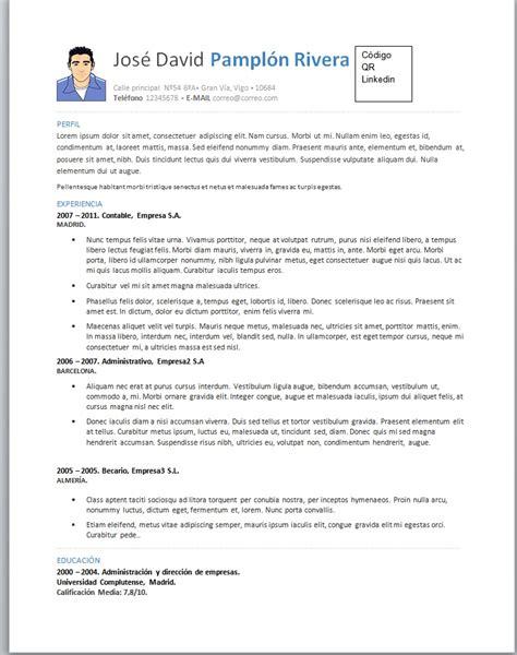 Modelo De Curriculum Vitae Cronologico Word Foto Curriculum 11 Trabajemos
