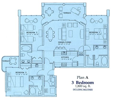 3 bedroom condo floor plan three bedroom condo floor plan of our vacation rentals