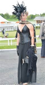 This racegoer shunned typical racegoer clothing and opted for a gothic