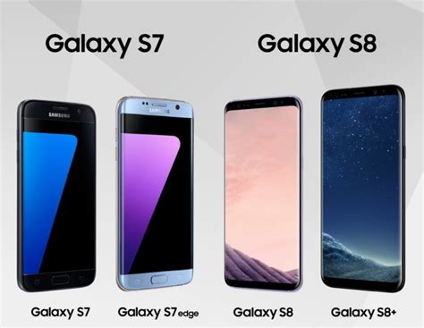 Samsung S8 S7 Samsung Galaxy S8 And S8 Vs Galaxy S7 And S7 Edge Specs