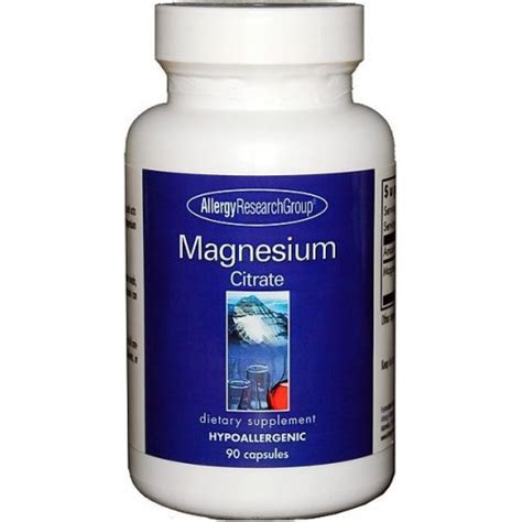 Magnesium Citrate Mercury Detox by Allergy Research Magnesium Citrate Seek