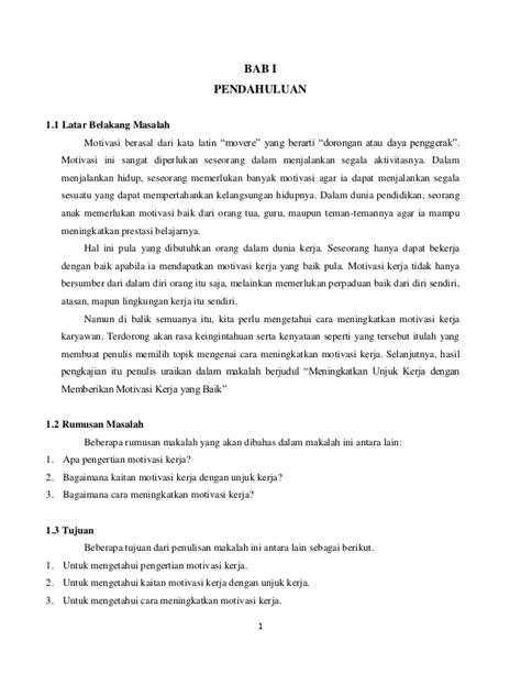 makalah motivasi kerja 4 517