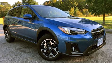 blue subaru crosstrek 2018 subaru crosstrek sport cvt test drive review