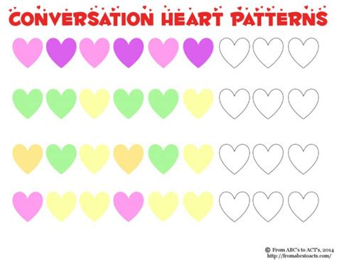 heart pattern for preschool conversation heart math for preschoolers from abcs to acts