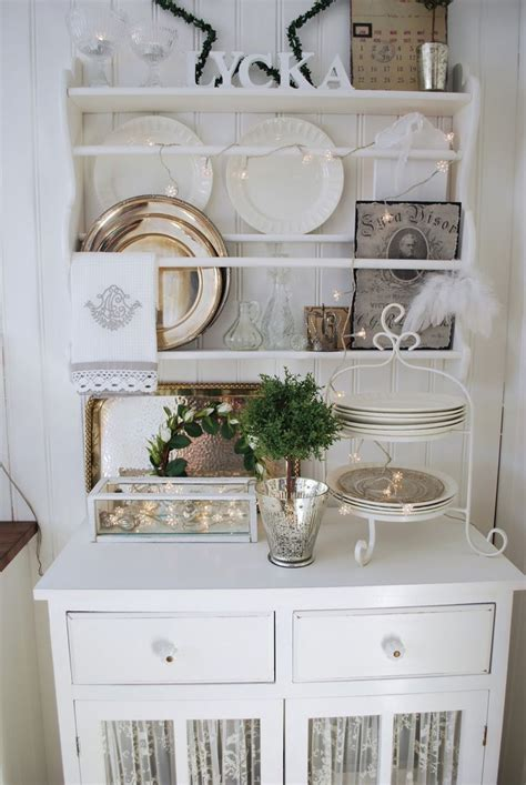 shelf cabinet dining room white grey black chippy shabby chic whitewashed cottage
