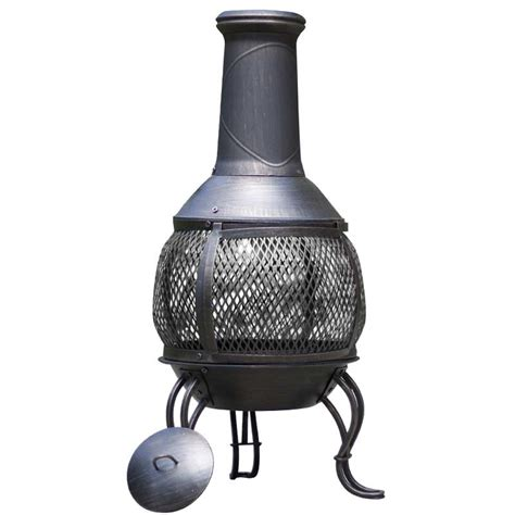 Chiminea Metal steel chimineas sale fast delivery greenfingers