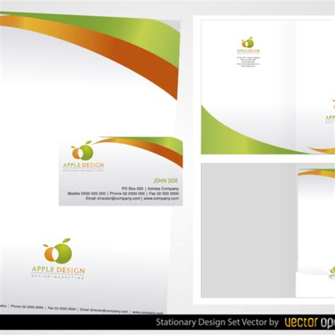 stationery layout vector free vector stationery design set freevectors net