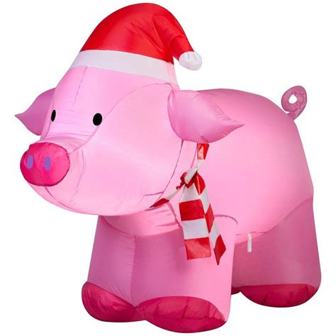 pink flying pig outside christmas decoration upc 086786368305 35 83 in w x 26 77 in d x 31 89 in h lighted outdoor pig