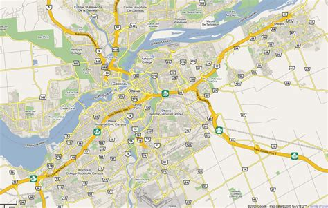 map of canada ottawa large road map of ottawa city ottawa large road map
