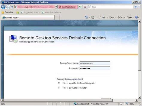 Microsoft Web Portal Publish A Remoteapp Application On Remote Desktop Service