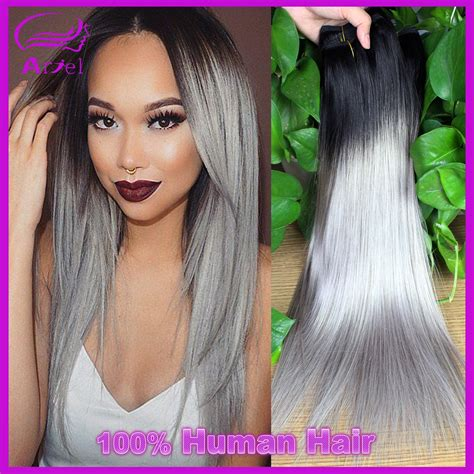 how to color weave grey new gray hair weave ombre brazilian hair straight gary