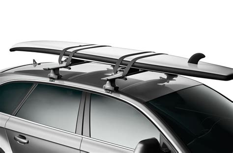 How To Put Surfboard On Roof Rack by Thule Board Shuttle Thule Usa