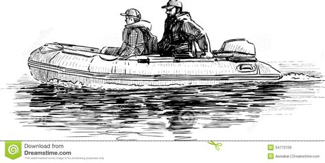 dinghy boat drawing father and son in the boat stock image image of adult