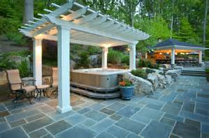 installing patios for hot tubs which are ideal in the summer plantopave